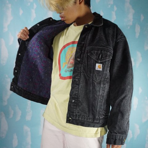 bffe73a82e @geebclothes. 2 years ago. Tampa, FL, USA. Vintage Carhartt WIP Denim jacket.  Lined blanket fleece interior. Men's ...