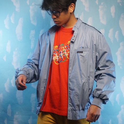 vintage 80s members only jacket rare rainbow tag style and depop