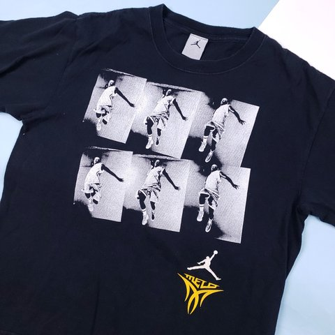 70f9f95a603 Jordan Melo graphic T-shirt. Awesome multiple framed graphic - Depop