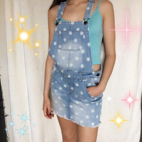 c561c609dc Polka dot CHEROKEE OVERALLS 🌷💦 super cute and perfect for - Depop