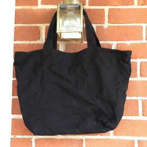 4a8acbc9cbe96b Black tote bag from Express Factory Outlet! Very sturdy, a a - Depop