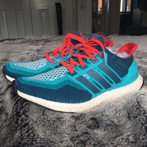 aee9eb3ea @bazroles. 2 years ago. Southampton, UK. Adidas Ultra Boost 2.0 Blue and Red  ...