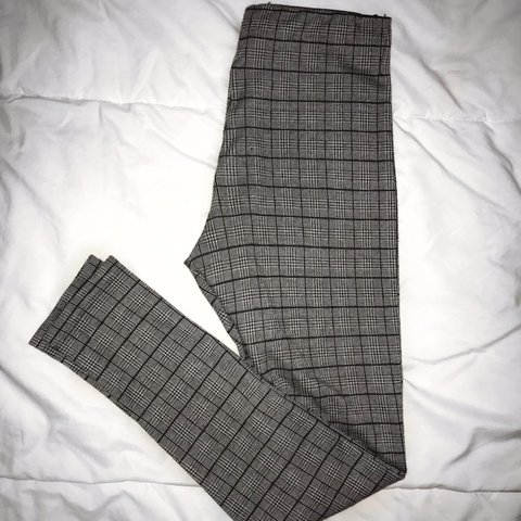 ebd780c8 Trendy plaid leggings from Zara. Really stretchy. Size S can - Depop