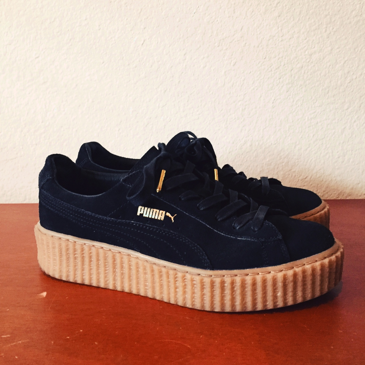 various colors b720b 89fc2 PUMA Fenty by Rihanna Creepers in black suede with ...