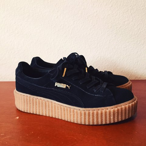 PUMA Fenty by Rihanna Creepers in black suede with an sole. - Depop e5c11374f