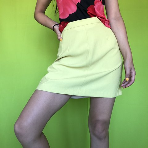 6101901ce7 @residentvintage_. 2 months ago. Los Angeles, United States. LIME GREEN  MINI SKIRT