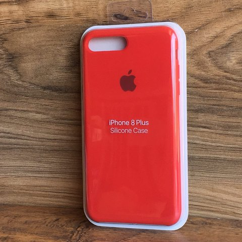 df2efeb4f87 📍Silicone Case for iPhone 7+ / 8+📍 • Red Color •... - Depop