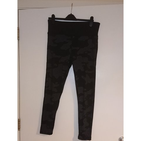 5ec224f150 Primark workout leggings. Black with grey camo print. Only - Depop