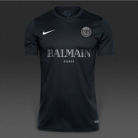 fa913064df3 @dilerrr_. 2 years ago. Orpington, United Kingdom. A custom Paris Saint  Germain X Balmain Football Jersey.