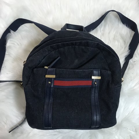 efd4c874df6 @alexandrabusy. last year. Boston, United States. TOMMY HILFIGER MINI  BACKPACK Dark Denim Material