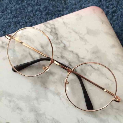 51d5a65854 Rose Gold Nerdy Fashion Round Glasses UNISEX for both men - Depop