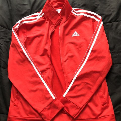 30ac7e99bed7 RED ADIDAS TRACK JACKET! In perfect condition