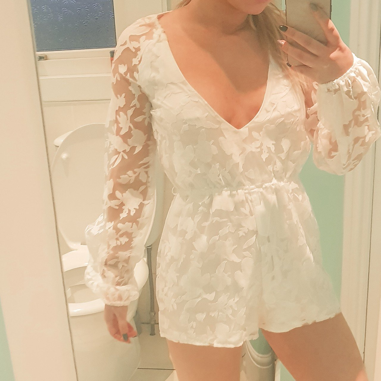 e7fde9be276c White lace playsuit. Never worn