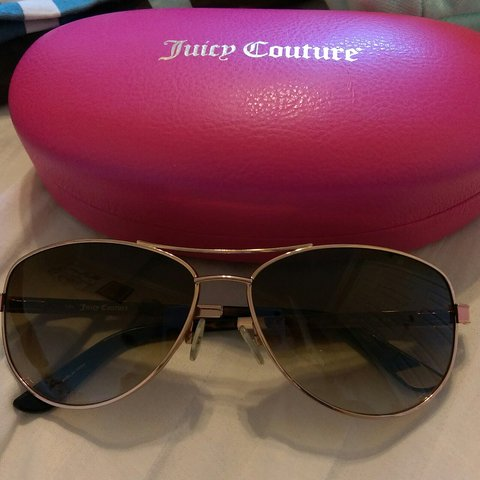 c803cc5c2a877 Juicy Couture Aviator Sunglasses. Never worn outside of my a - Depop