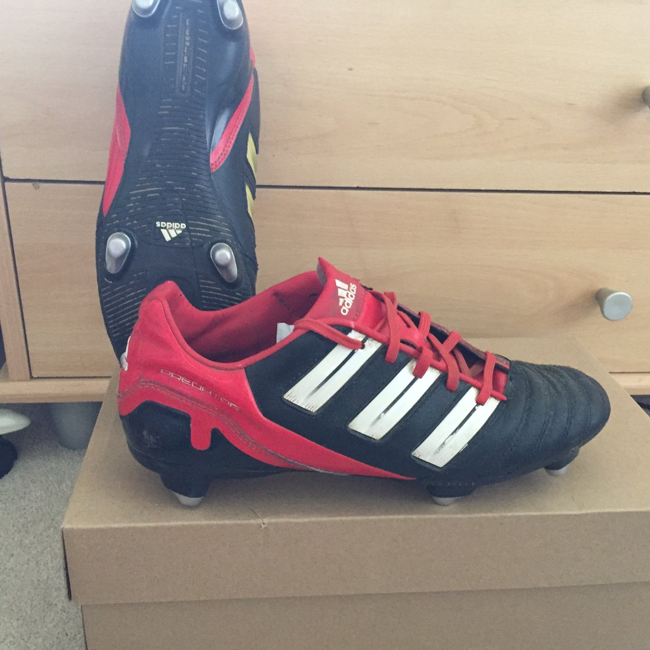 promo code c64d3 aecac Adidas Predator (Adi Power) in Size 8. These are perfect for - Depop