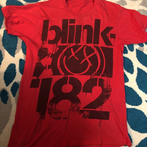 Old School Bad Ass Blink 182 Band Shirt In Amazing Perfect Depop