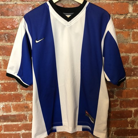 1f314a324bd04 @cruelworldvintage. last month. Philadelphia, United States. Dope vertical  striped Nike team soccer jersey ...