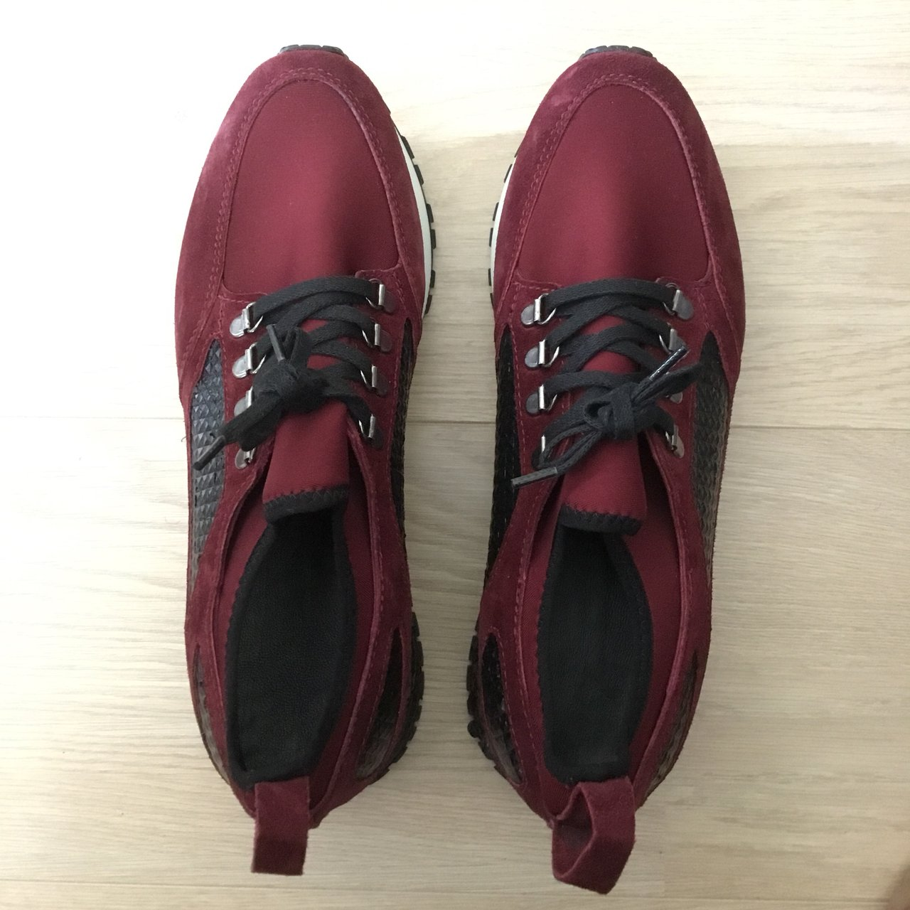 19e1aa0f8 S BAKER BORDEAUX RED SUEDE