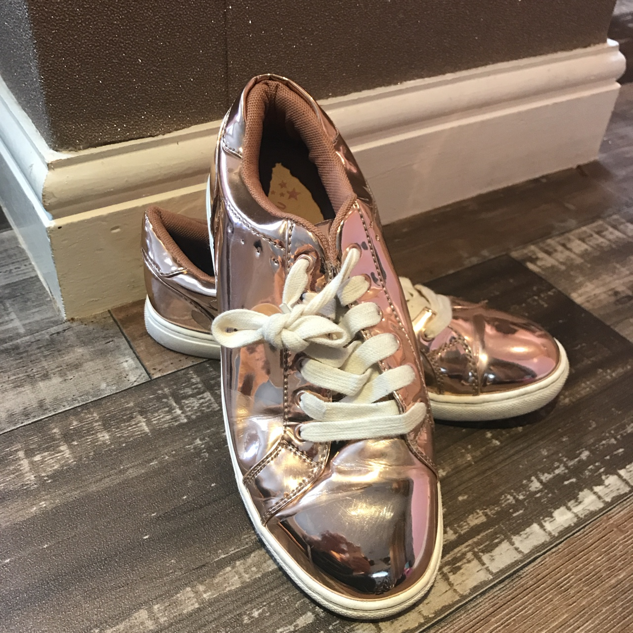 rose gold trainers next cheap online
