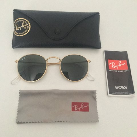 d3d2675e7 @jadegregory_. 8 months ago. Peterborough, United Kingdom. Genuine round  metal rayban sunglasses, green lens gold frame, used ...
