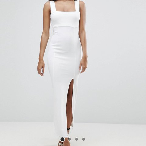 35ab22e79f4 New with tags ASOS white midi bodycon dress