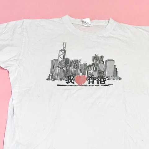 4f56506a Vintage Hong Kong tourist t-shirt from the late 1980's. In - - Depop