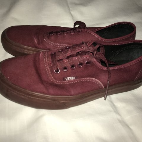 9d5dbc02ba Burgundy classic vans Usual wear but still in great Size 8 - Depop