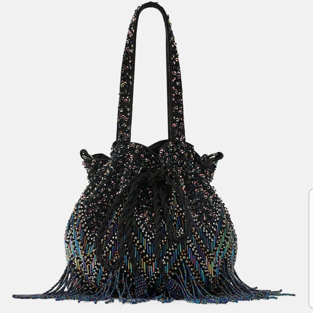 20df585c84d @h6789. 6 days ago. Merseyside, United Kingdom. Zara handbag used once  embellished in perfect condition with chain strap