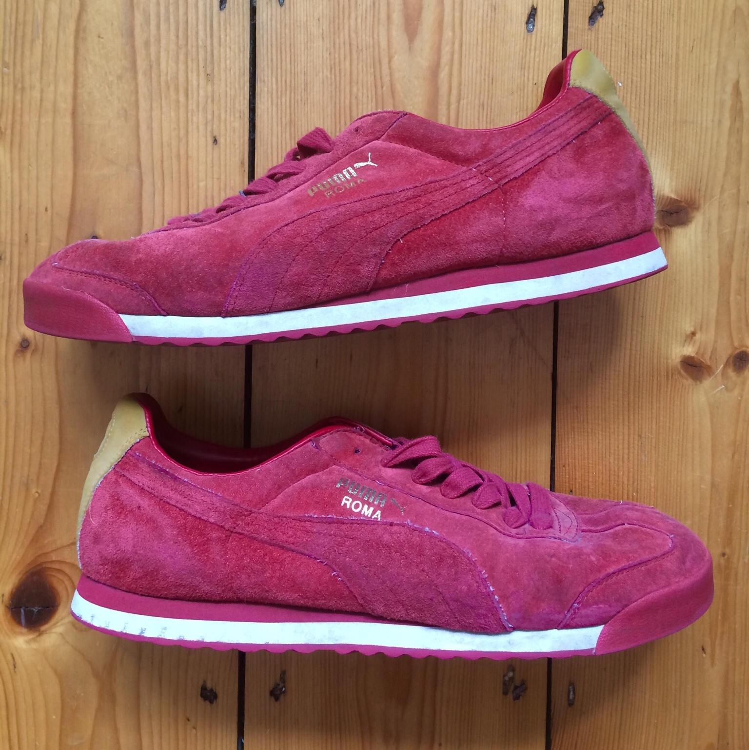 watch ed3a6 c4f13 Puma Roma. Red Suede with gold and white ⚪️ Not seen ...