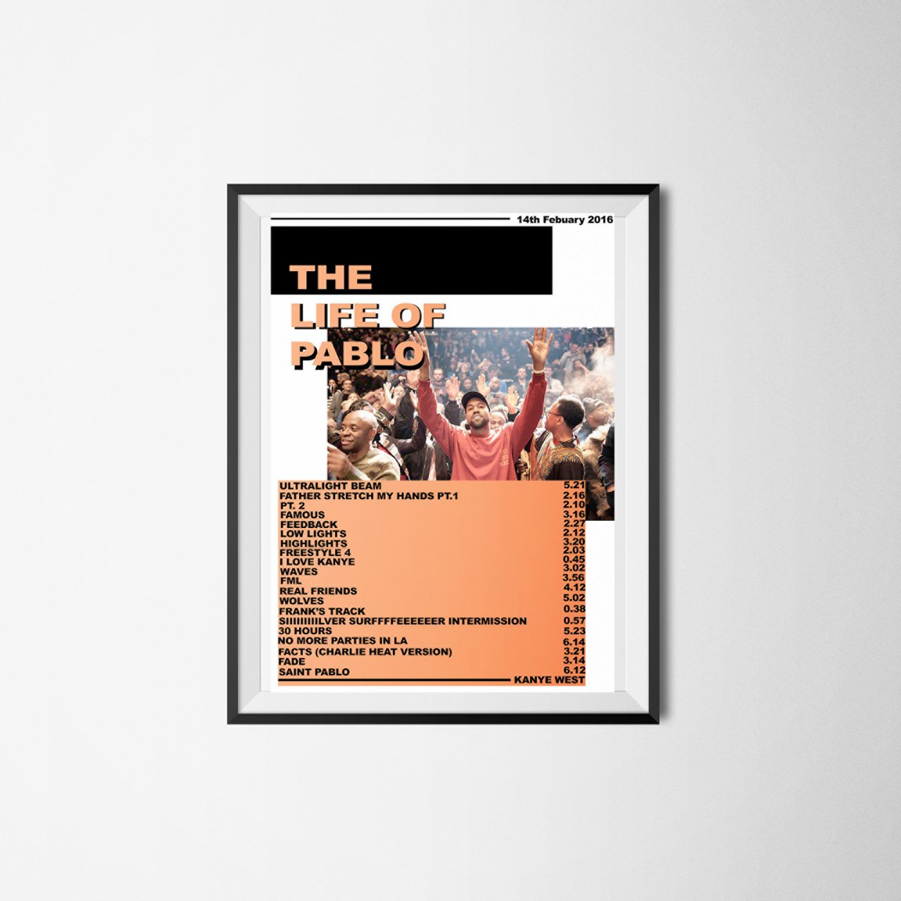 Kanye West The Life Of Pablo Magazine Cover Style Poster Depop
