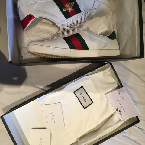 11fcc2f2fd4 Gucci ace bee shoes Size 8