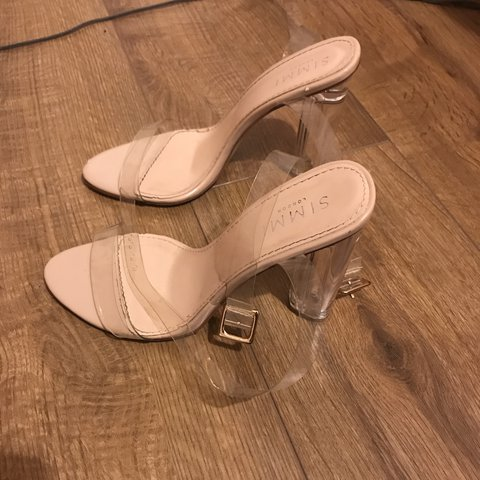 9b80d5983f5 Simmi shoes clear perspex heel in nude Size 6 Message offers - Depop