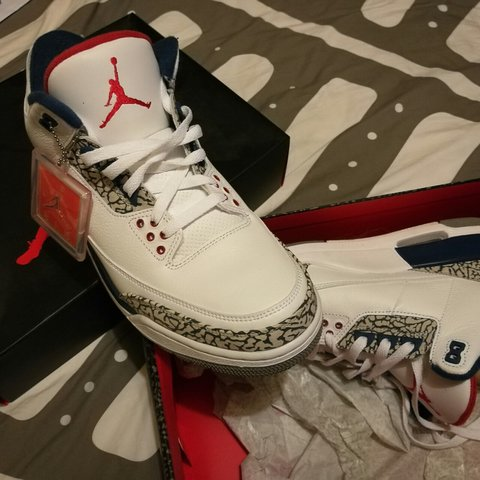 25b32e8a6e6d Air Jordan 3 Retro OG  True Blue  - Depop