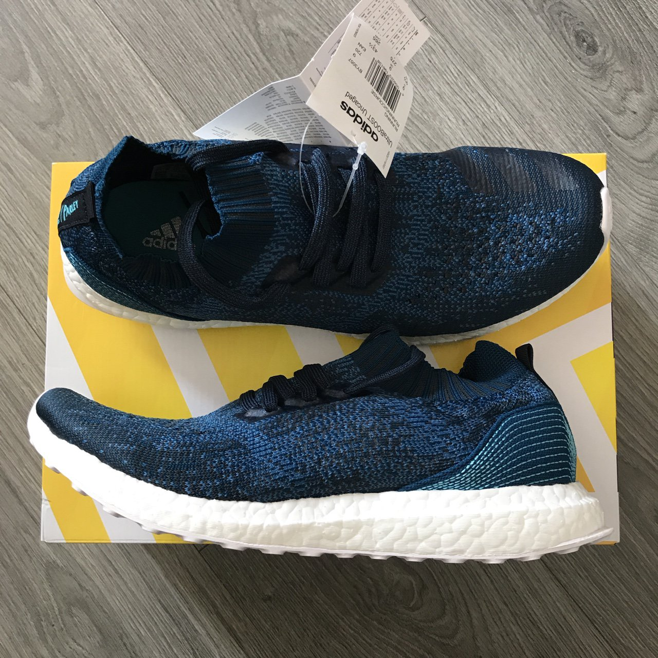 47e407a22 Adidas X Parley Ultra Boost Uncaged. Size U.K. 9 and 10.5 of - Depop