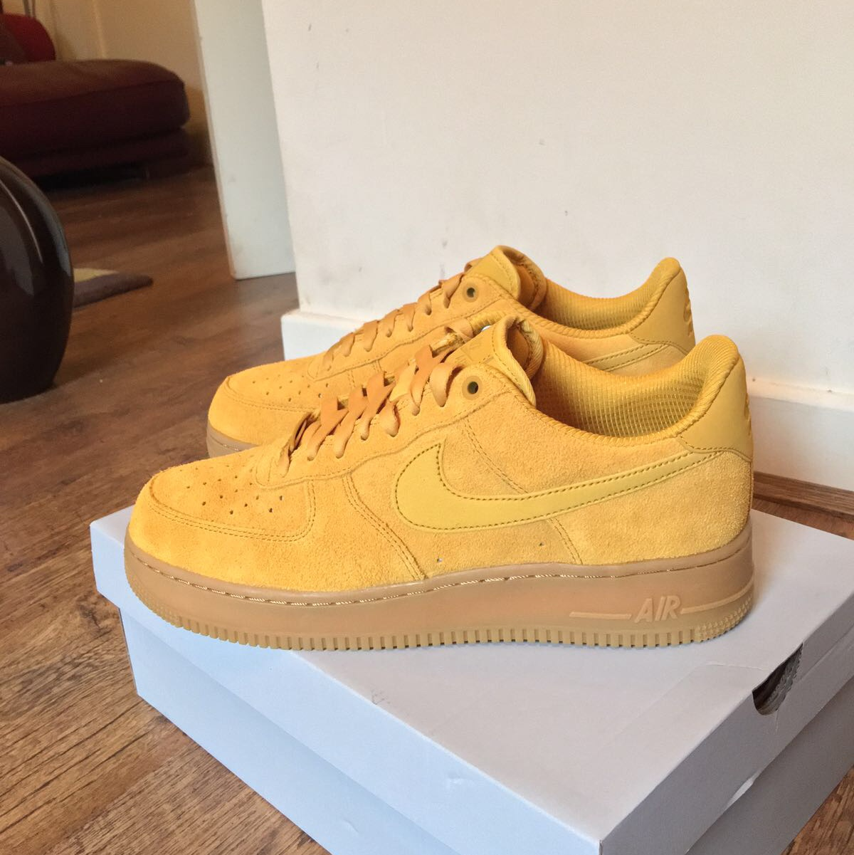 317f9d7eef1cc freshprince_uk. London, United Kingdom. Nike Air Force 1 low /Mustard  yellow Suede / Size 8 Sold out ...