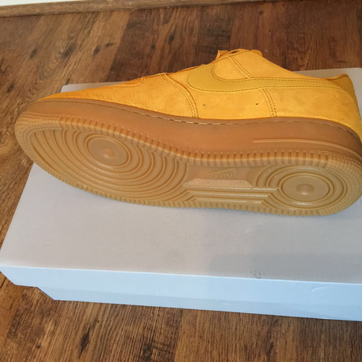 c04e744a55355 Nike Air Force 1 low /Mustard yellow Suede / Size... - Depop