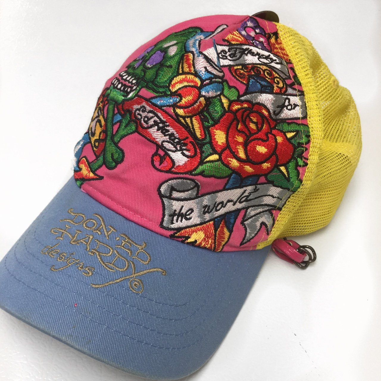 Classic Ed hardy Trucker Hat. Everything is Embroidered and - Depop bef3a354905