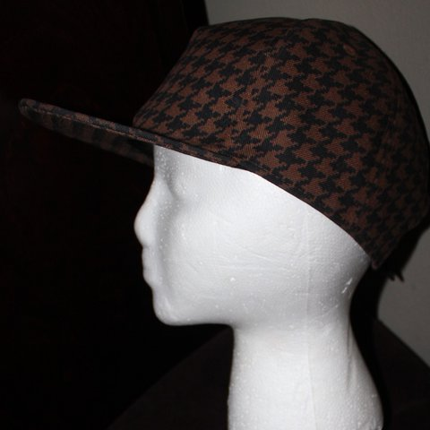 Louie Brown Black Houndstooth Pattern Dad Cap By  uniqlo One - Depop 54b335e3c9e