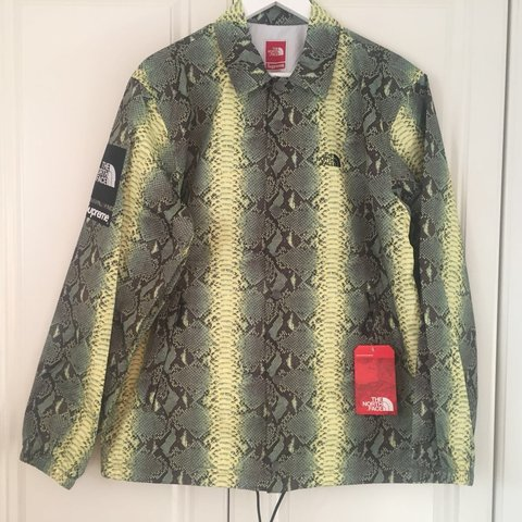 6803c5fe08 Supreme X The North Face snakeskin taped seam coaches new of - Depop