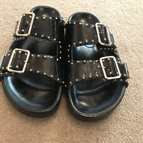 43502b12d414 GIVENCHY SWISS PATENT LEATHER STUD SANDALS