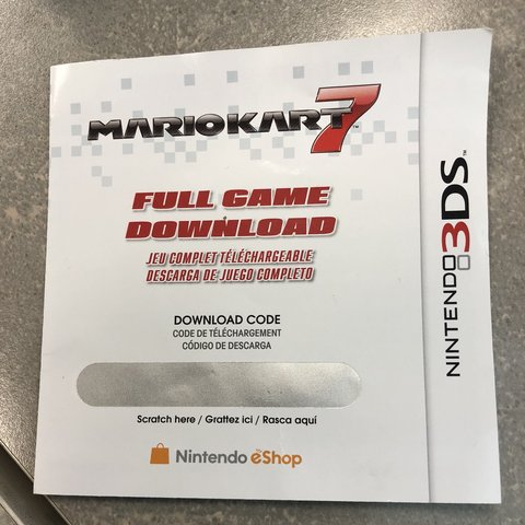 Mario Kart 7 Download Code For The Full Game For The 3ds Depop