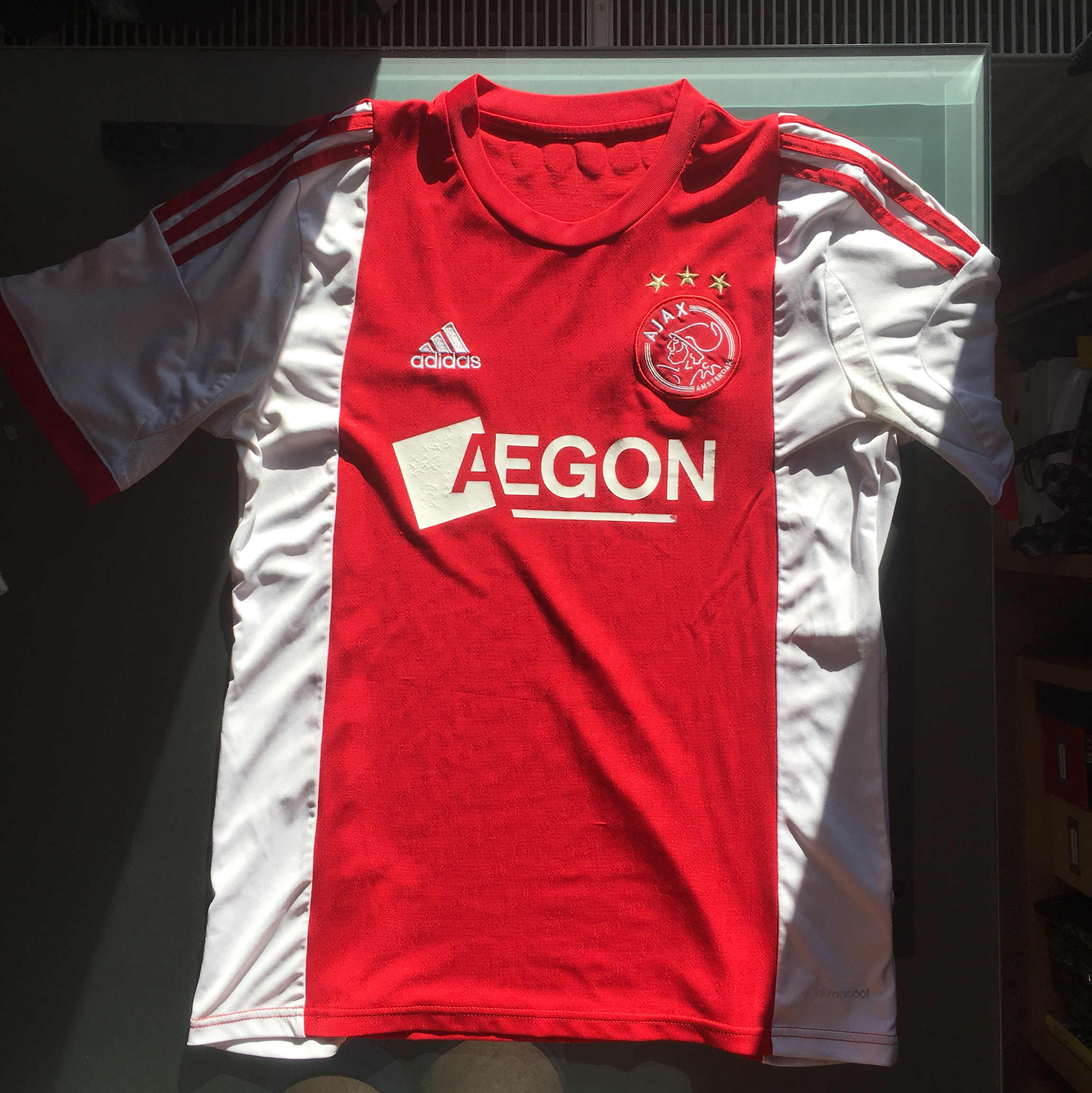 newest 1e924 14f46 Ajax FC home football shirt/kit size medium. From... - Depop