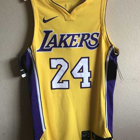 b77364ba21d @anything4thelow. 5 months ago. Orlando, United States. Nike Los Angeles  Lakers Kobe Bryant Home Gold jersey size 44 ...
