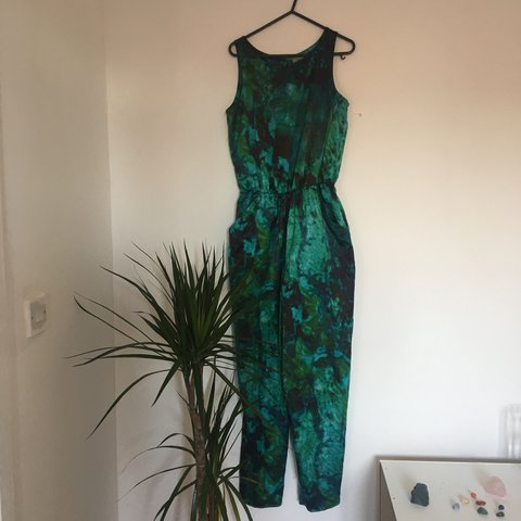 74a1f135b9b Green   Blue Jumpsuit 🥝 Size 8-10 🥝 Never worn Free xx - Depop