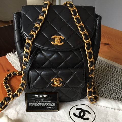 0905bb2d9950 Vintage Quilted Chanel Backpack. Comes with dust bag and bag - Depop