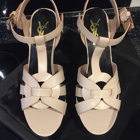 772c997fe Soft nude ysl tribute heels will fit a 5-6. Brand new never - Depop