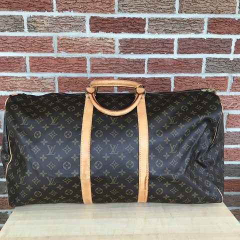 abb70d2a38f3 Louis Vuitton monogram Keepall 60 duffle travel bag. Date - Depop
