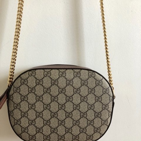 48efcf283 @crystal1997. 6 months ago. Canada. Discontinued Gucci Supreme Mini Chain  Bag