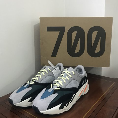 7ab4d158d10df Adidas Yeezy Boost 700 Wave Runner (Solid Grey) 1 x UK 10.5 - Depop
