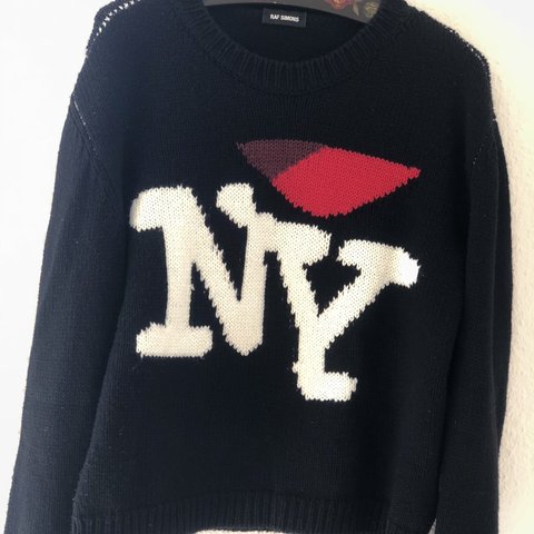 Raf Simons I Love Ny Sweater Not The Cropped One Size Worn Depop